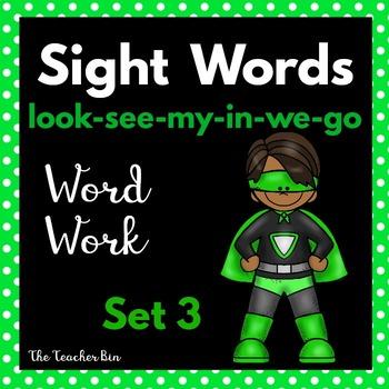 Kindergarten- Special Education- Sight Word  Set 3 ( Super