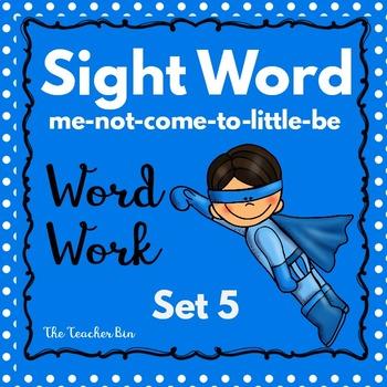 Kindergarten - Special Education-Sight Word  Set 5 (Super