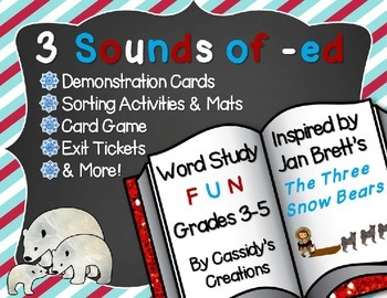 Sounds of Suffix -ed Word Work: Sorts, Game, and Printable