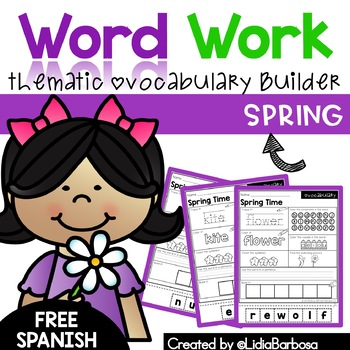Word Work- Spring Vocabulary