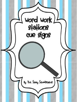 Word Work Station/Center Cues