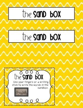 The Sand Box Word Work Activity