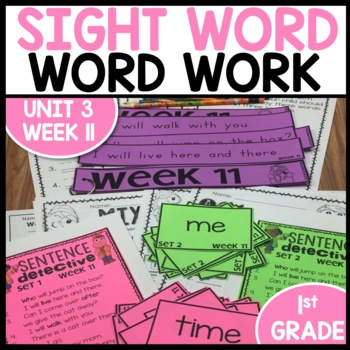 Word Work (Unit 3 Week 3)