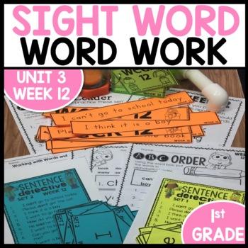 Word Work (Unit 3 Week 4)