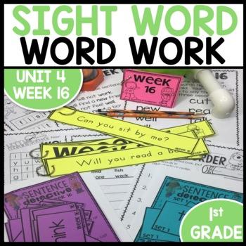 Word Work (Unit 4 Week 4)