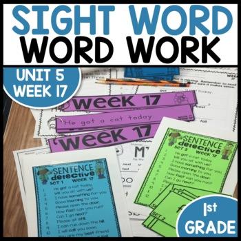 Word Work (Unit 5 Week 1)