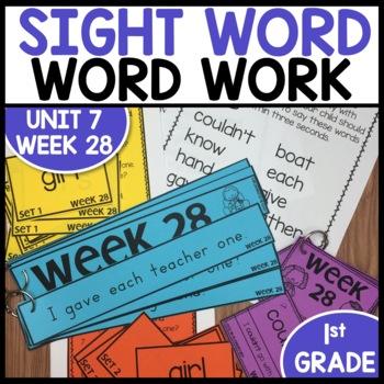 Word Work (Unit 7 Week 4)