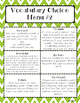 Word Work (Vocabulary) for Upper Elementary
