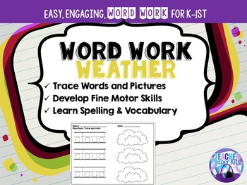 Word Work- Weather