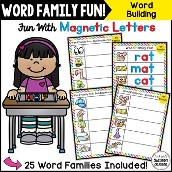Word Work ~ Word Families ~ Building Words with Magnetic L
