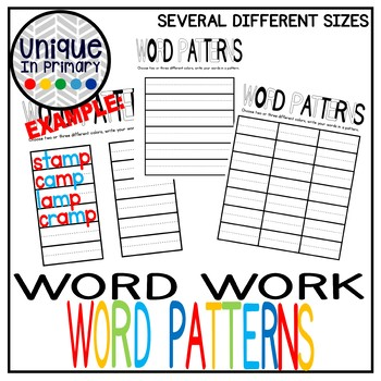 Word Work: Word Patterns