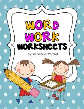 Worksheets Worksheets Work word work worksheets by christine statzel teachers pay worksheets