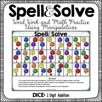 Spell and Solve Word Work Station - (2-Digit Addition)