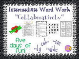 "Word Work and Vocabulary 5-Day Intermediate Unit ""COLLABOR"