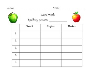 Word Work for First Grade