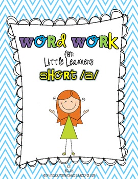 Word Work for Little Learners {short a}