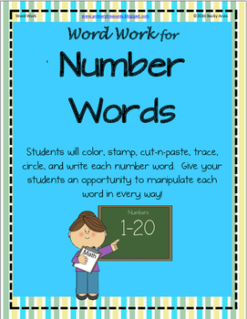 Word Work for Number Words 1-20