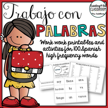 Word Work in Spanish with High Frequency Words