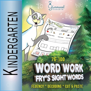 Word Work with Fry's 76 - 100 Sight Words