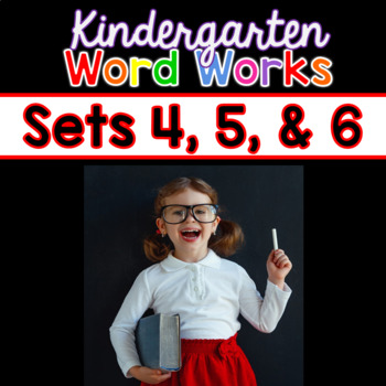 Word Works BUNDLE #2: Sets 4, 5 & 6 (Printable & Interactive PDF)