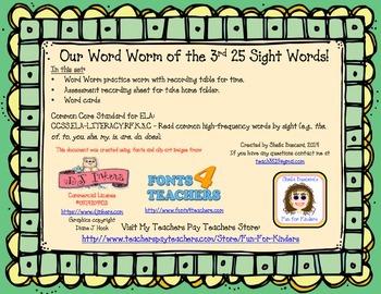 Word Worm Set 3 Challenge