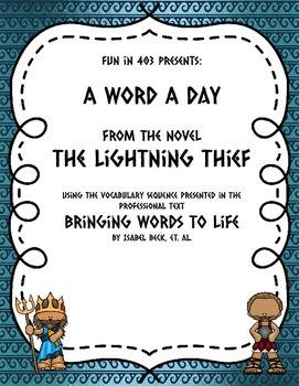 Word a Day Vocabulary Sequence: The Lightning Thief