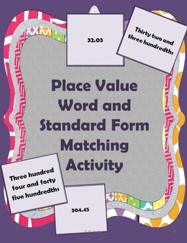Place Value Memory Game-Math Center