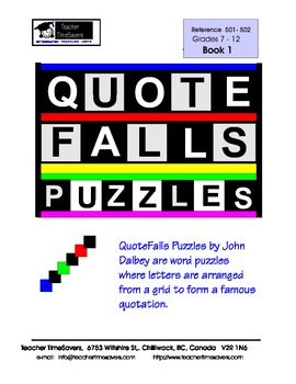 Word games and puzzles: Quote Falls Book1