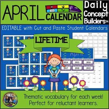 Word of the Day April Calendar
