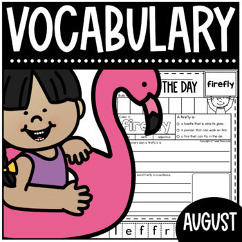 August Word Of The Day {Dictionary Skills}