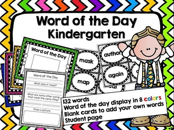 Word of the Day Class Activity- Kindergarten-1st
