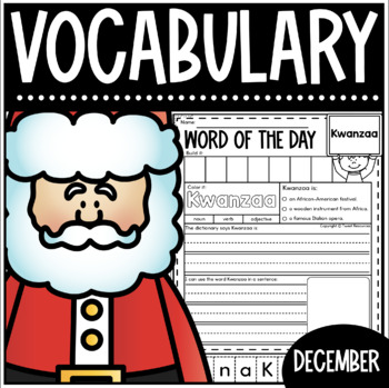 December Word Of The Day {Dictionary Skills}