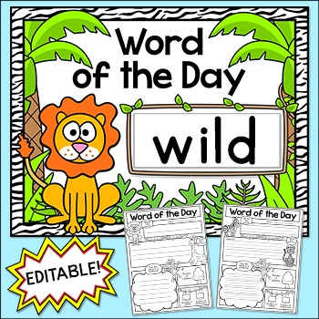 Word of the Day Jungle Theme Posters