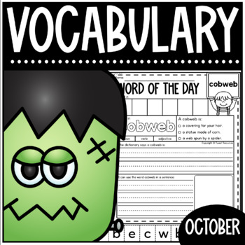 October Word Of The Day {Dictionary Skills}