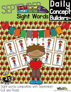 Word of the Day September Sight Word Center