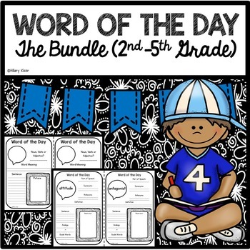 Word of the Day The Bundle (2nd-5th Grade)