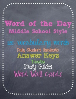 Word of the Day Vocabulary Program for Middle School