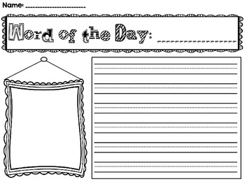 Word of the Day and Word of the Week Printables