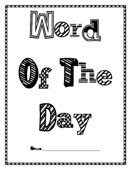 Word of the Day booklet!