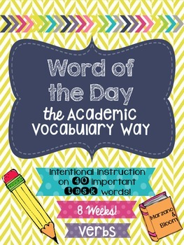 Word of the Day {the Academic Vocabulary Way}