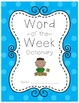 Word of the Week - A Year Full of Vivid Vocabulary