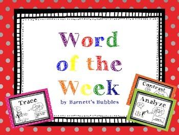 Word of the Week - Bloom's Taxonomy Verbs