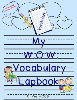 Words of the Week Interactive Lapbook Template