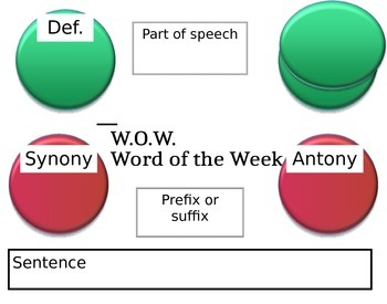 Word of the Week Poster