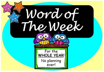Word of the Week Vocabulary for the WHOLE YEAR+Class Games