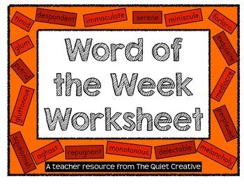 Word of the Week Sheet