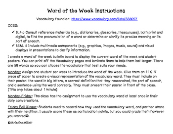 Word of the Week--full year