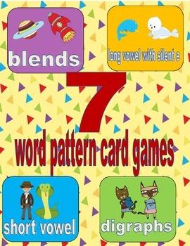 Word pattern card game bundle