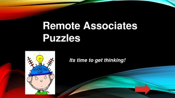 Word puzzles, Remote Associate Puzzles