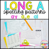 Long *A* spelling patterns (ay, ai, a_e) Worksheets